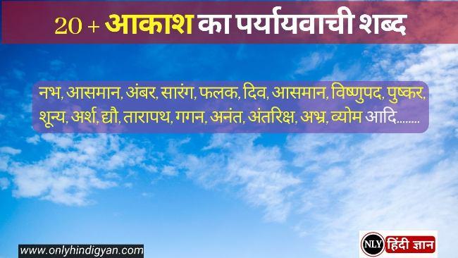 20+आकाश का पर्यायवाची शब्द जानिए  | Aakash Ka Paryayvachi Shabd